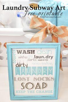 bathroom or laundry room? Mudroom Laundry Room, Laundry Room Design, Laundry Art, Laundry Signs, Decor Crafts, Diy Crafts, Laundry Room Inspiration, Subway Art, Printable Wall Art