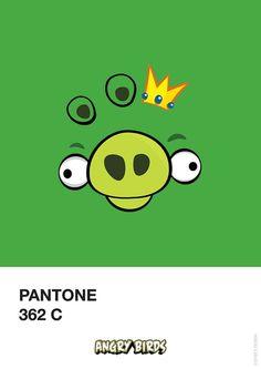 Angry Birds Pantone by Filipe Marcus