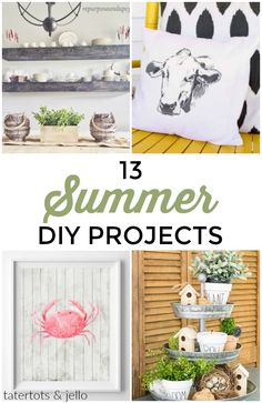 Great Ideas -- 13 Summer DIY Projects!