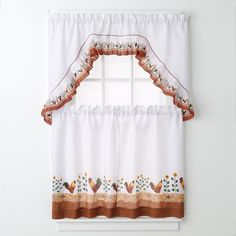 Park B. Smith Provencal Rooster Tier Kitchen Curtains