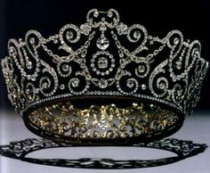 British: The Delhi Durbar Tiara - 1911. Created for Queen Mary by Garrard so she would have a tiara to wear abroad. British crown jewels are not allowed to leave the country. It was worn with a band of  emeralds and sometimes with 2 large diamonds... Not worn for 60 years, until Camilla wore it for her first royal appearance...
