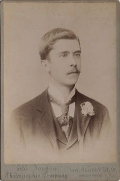 Cabinet photo of a Victorian Man taken in London around 1890s by The London Photographic Company studio located at 304 Regent Street.