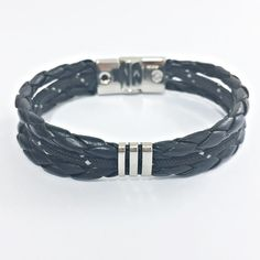 Pulseira Masculina Couro Trançado Corda Nautica Bracelete mens bracelets fashion style cocar brasil