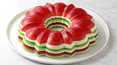 """This delightfully retro """"salad"""" would be right at home in an episode of Mad Men. The pretty layers are infused with booze for an adults-only dessert that's basically the classiest jello shot ever."""