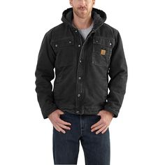 Shop Carhartt Men's Sherpa-Lined Bartlett Jacket and other products from Gander Outdoors! Carhartt Workwear, Carhartt Jacket, Carhartt Wip, Work Jackets, Line Jackets, Men's Jackets, Mens Sherpa, Hugo Boss Man, Burberry Men