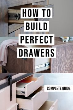Great tips and tricks! Perfect guide for a beginner! How to build drawers for a beginner! They are not that hard! #AnikasDIYLife #woodworking #woodworkingtips #furniture #howtobuilddrawers #drawers #woodworkingprojects