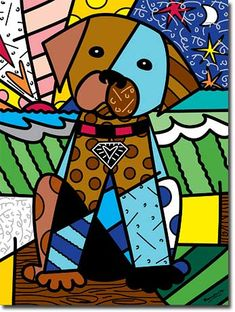 Club Black is too bright for us presents Romero Britto. Contemporary Pop Artist & our beloved puppy Ganja and her memorable colour runs at our ecoPark in Cyprus. Pop Art, Arte Country, Art Populaire, 3rd Grade Art, Graffiti Painting, Graffiti Art, Art Plastique, Teaching Art, Elementary Art