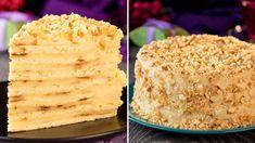 Tort Napoleon la tigaie - nu veți găsi o rețetă mai simplă! Weight Watcher Desserts, Napoleon Torte, Vanilla Cake, Sweets, Bread, Make It Yourself, Cooking, Recipes, Food