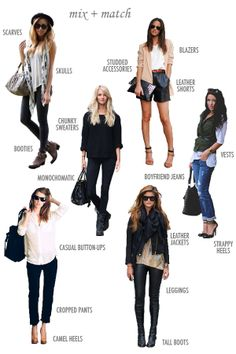 love this fall mix & match look board - via a newfound treasure