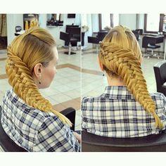 Gorgeous braided hair look
