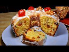 Pan de navidad sin amasar - YouTube Sans Gluten, French Toast, Muffin, Bread, Fruit, Breakfast, Christmas, Youtube, Food