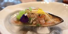Fresh Mussel Leche De Tigre Marinated with Onion Chalaquita