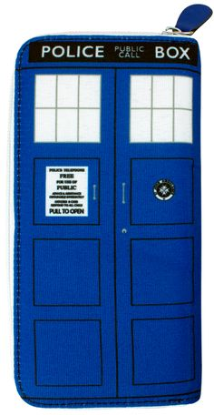 It's what female Doctor Who fans have been waiting for - a brand new ladies clutch wallet featuring an awesome TARDIS design! Like all TARDIS products, it is of course bigger on the inside - there's plenty of room for all your notes, coins, Doctor Who membership cards and psychic paper. This fantastic cloth wallet measures 20 x 10cms and was designed in Australia. If you're a Doctor Who fan then this wallet is a must have! Another awesome Doctor Who collectable brought to you by ...