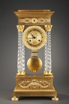 Decorative Arts Clocks Japy Freres White Marble And Ormolu Portico Clock C1880 Good Reputation Over The World