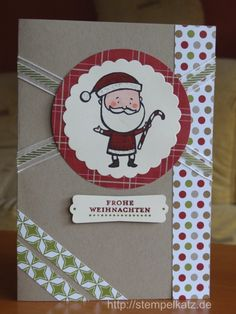 Christmas card featuring Stampin' Up! Color Me Christmas stamp set #StampinUp