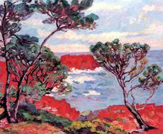 Armand Guillaumin, Les rochers rouges, 1894 on ArtStack #armand-guillaumin #art