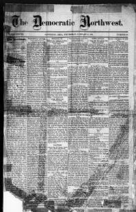 HENRY COUNTY - NAPOLEON -About Democratic Northwest. (Napoleon, Ohio) 1869-1894 « Chronicling America « Library of Congress