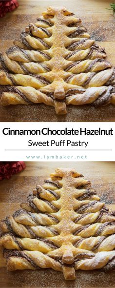 Looking for easy homemade dessert recipes? Try this Cinnamon Chocolate Hazelnut Puff Pastry. All you need is store-bought puff pastry and a jar of chocolate hazelnut spread and you have a show-stopping treat that everyone will love! For more delicious dessert recipes to make, check us out at #iambaker. #desserts #sweettooth | Easy Dessert Recipes | Easy Christmas Desserts Recipes