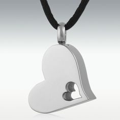 A Piece Of My Heart Silver Stainless Steel Cremation Jewelry