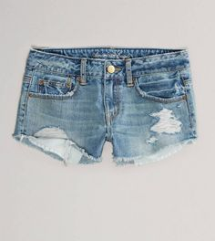 Cut-off jean shorts (American Eagle) are a constant summer staple.
