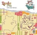 """DADA Die with clear stamps set """"bear in airplane"""" Stamp Storage, Blue Fairy, Country Crafts, Craft Shop, Cute Bears, Winter Scenes, Winter Time, Clear Stamps, Little Boys"""