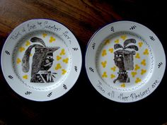 'The Dryden Plates' by Clive Hicks-Jenkins (decorated enamelware)