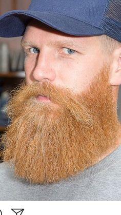 Wow, sweet beard dude! Beard And Mustache Styles, Beard Styles For Men, Beard No Mustache, Hair And Beard Styles, Badass Beard, Epic Beard, Full Beard, Red Beard, Beard Love