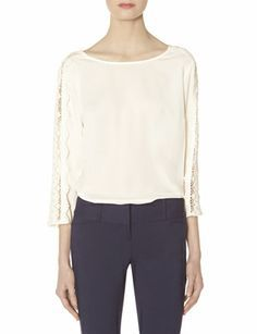 Lace Sleeve Blouse from THELIMITED.com #TheLimited #Tops #Lace #SpringStyle