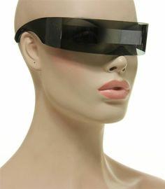 Party Fun Futuristic Costume Sunglasses Transparent Gray Grey Silver Mirror Lens