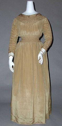 1890's British Dress made of Silk, Linen, & Cotton