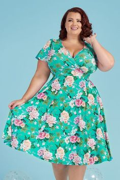 Take a look at our brand new arrivals! With a selection of different styles and prints to choose from, you're bound to find something that catches your eye. Flare Skirt, Flare Dress, Lady V, 1950s Fashion, Blue Dresses, Wrap Dress, Fashion Dresses, Rose, Short Sleeve Dresses