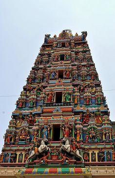 Kuala Lumpur, Malaysia, I've actually been to this one! Yay! | Sri Maha Mariamman Hindu Temple built in 1873