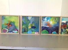 Akvarier 2. klasse. Akvarel og cernit