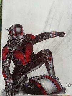 ..Antman drawing... ballpoint pen