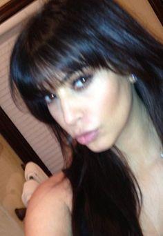 Kim Kardashian fringe hair cut: Blunt bangs are back!