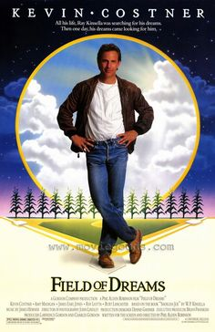 Field of Dreams original movie poster cast signed by Kevin Costner (Ray Kinsella), Amy Madigan (Annie Kinsella), Gaby Hoffmann (Karin Kinsella), Ray Liotta (Shoeless Joe Jackson), James Earl Jones (Terence 'Terry' Mann). Kevin Costner, 80s Movies, Movies To Watch, Good Movies, Famous Movies, Plane Movies, Awesome Movies, Action Movies, Tv Shows