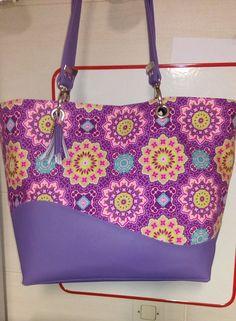 Sac Samba violet et jaune cousu par Mariden - Patron Sacôtin