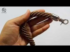 Spiral Rope Bag Handle || Crochet Tutorial - YouTube