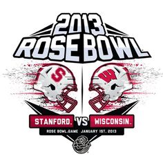 Wisconsin Badgers vs. Stanford Cardinal Ladies 2013 Rose Bowl Dueling Exploding Long Sleeve T-Shirt - White
