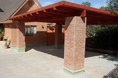 PERGOLAS Y QUINCHOS Backyard Kitchen, Backyard Patio, Carport Designs, Patio Design, Car Garage, Bbq, Home Improvement, Construction, Outdoor Structures