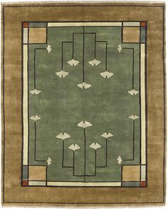 Arts & Crafts Series – The Ginkgo Rug. I am in love with the Ginkgo leaf.