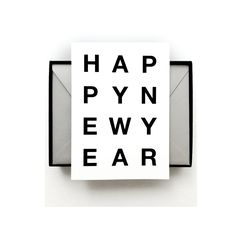 New Year Cards | Modern Typography Greeting Cards | on Shop DLK