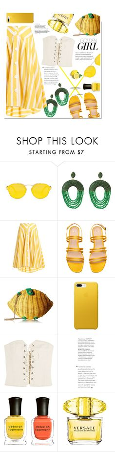 """Lemonade"" by swweetalexutza ❤ liked on Polyvore featuring Thierry Colson, Betsey Johnson, Isabel Marant, Murphy, Deborah Lippmann and Versace"
