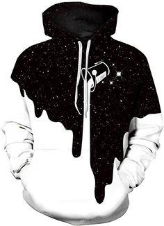 926e2a11a25b Imbry Herren Slim Fit Hoodie Long Sleeve Kapuzenpullover 3D Druck Muster Sweatshirt  Pullover (2XL