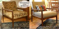 Mid-Century Chair Makeover - Sweet Pea