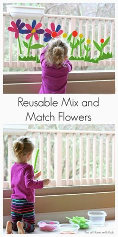 Reusable Spring Flowers Bath/Window Art from Fun at Home with Kids- love the idea of this being a reusable window center needing only water AND also a way to practice cutting with scissors! Spring Activities, Craft Activities For Kids, Projects For Kids, Diy For Kids, Preschool Activities, Crafts For Kids, Toddler Play, Toddler Preschool, Toddler Crafts