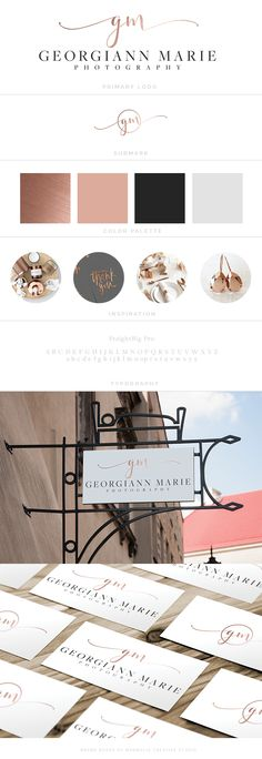 Photography Logo, copper logo, branding, magnolia creative