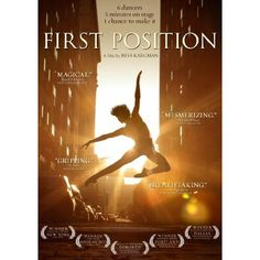 What an amazing documentary! The salsa ballet in the bonus features is worth the price of the movie alone! First Position: Aran Bell, Gaya Bommer Yemini, Michaela DePrince, Joan Sebastian Zamora, Miko Fogarty, Jules Jarvis Fogarty, Rebecca Houseknecht, Bess Kargman