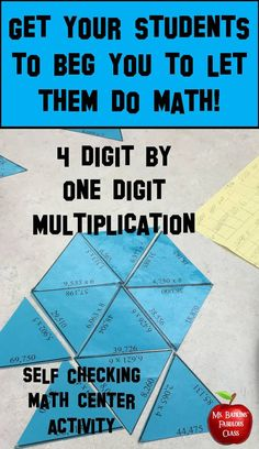 This 30 problem four digit by one digit multiplication puzzle is ideal for engaging math center work. This puzzle can be used by small groups, partners, or individual students. Also works great for those fast finishers!