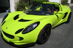 ~2011 Lotus Elise~ Lime Green  the only car that could look luxurious in lime green